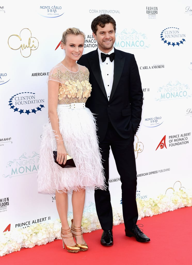 Diane and Josh made a gorgeous entrance at the Nights in Monaco reception, with Diane in an ultraglamorous feather-skirted Prabal Gurung confection.