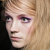 Meticulously Swept Bangs at Anna Sui