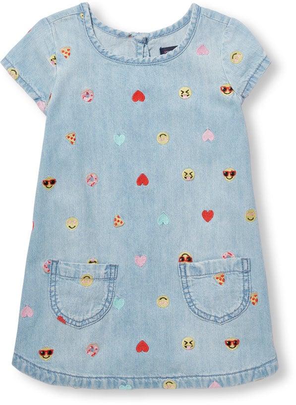 Images of long and short emoji dresses