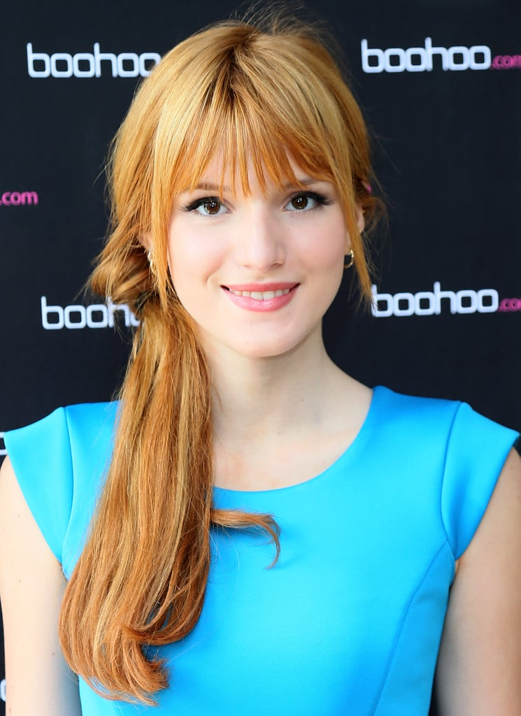 Remember the topsy-turvy ponytail? Bella Thorne revived the style at the Boohoo Summer Press Day, wearing hers askew just under the ear.