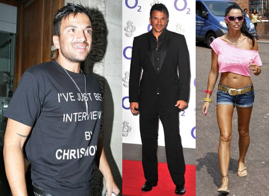 Photos of Jordan aka Katie Price in Brighton and Peter Andre at Chris Moyles and Silver Clef Awards
