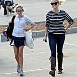 Reese Witherspoon smiled while spending time with her daughter, Ava Phillippe.