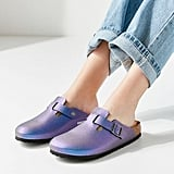 Birkenstock Boston Metallic Clogs
