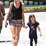 Alessandra Ambrosio and Anja Mazur walked to get frozen yogurt in LA.