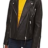 Topshop Dolly Leather Biker Jacket