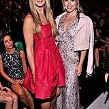 Molly Sims and Ali Larter were undeniably feminine in their respective dresses at Carolina Herrera's Spring 2014 show. Molly went for a fit-and-flare pick, while Ali chose a printed maxi with a cropped moto jacket.