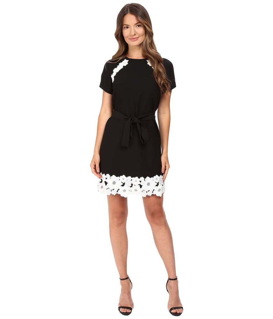 Kate Spade New York Lace Trim Satin Crepe Dress ($348)