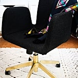 Even the most lackluster office chair can be the star of your work space, thanks to this Ikea hack. Source: Hither and Thither