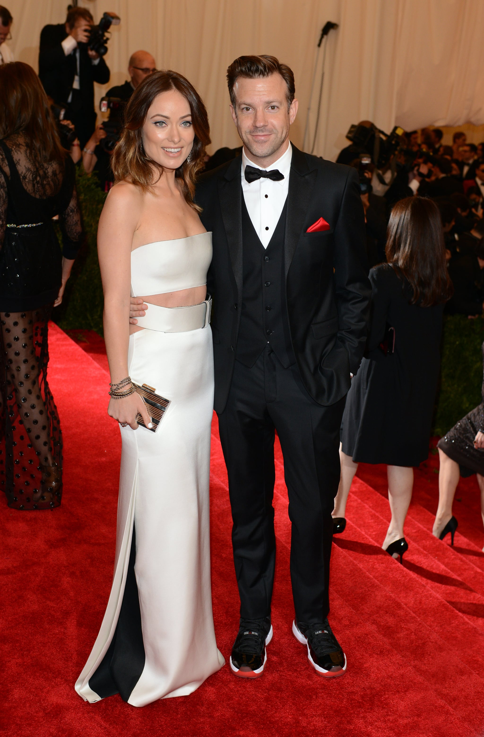 Olivia Wilde and Jason Sudeikis at the 2013 Met Gala
