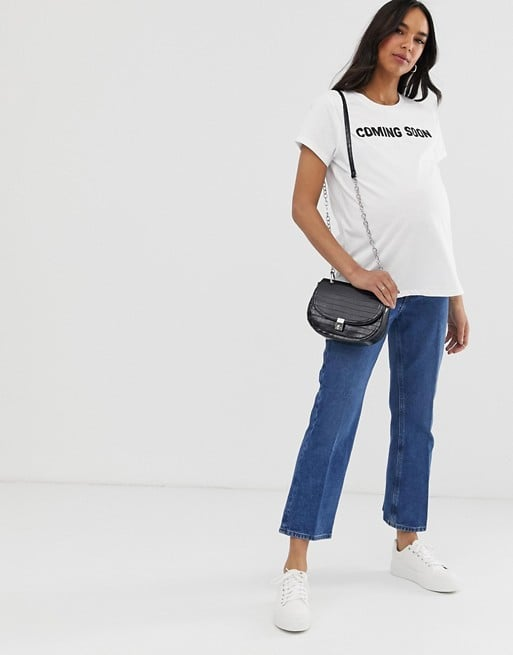 ASOS DESIGN Maternity t-shirt with coming soon print | ASOS