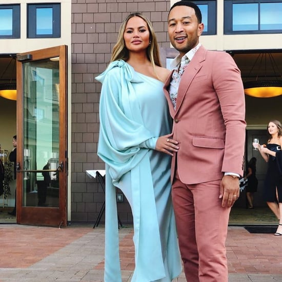 Chrissy Teigen's Blue Dress Instagram