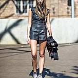 Leather with an approachable twist, thanks to a pair of Converse. Source: Le 21ème | Adam Katz Sinding