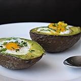 Breakfast: Baked Egg in Avocado