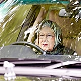 Queen Elizabeth II Driving Photos May 2017