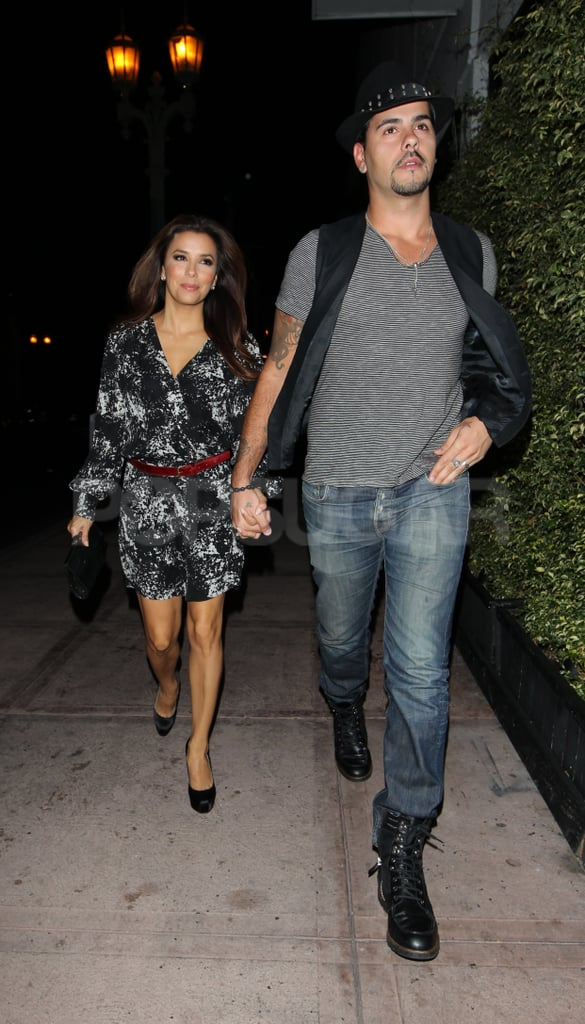 """Eva Longoria and Eduardo Cruz had a date night yesterday at her LA restaurant Beso. She had the evening off from shooting the final season of Desperate Housewives, which kicked off on ABC a few weeks ago. Her last episodes as Gabrielle Solis will air through 2012, and so far, things on the show have been as dramatic as usual. Eva was mum about her and Eduardo's outing on Twitter, but he's been sharing his thoughts on many things on his own page. He just posted a quote from Albert Einstein that read, """"Two things are infinite: the universe and human stupidity, and I'm not sure about the the universe."""" Eva, who recently topped a list of TV's highest paid actresses with Tina Fey, has been busy with other projects. She produced a documentary called The Harvest, out on DVD yesterday, about underage migrant workers. Eva's also getting political and is one of most famous attendees to have RSVP'd to the first-ever national Latino gala for Obama, being held on Oct. 24, at the home of Antonio Banderas and Melanie Griffith."""