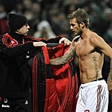 19/02/2009 David Beckham Shirtless