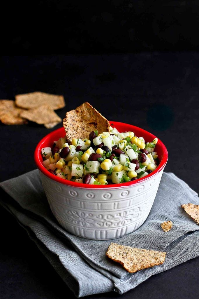 Jicama, Black Bean, and Corn Salsa