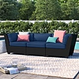 Sol 72 Outdoor Tegan Patio Sofa With Cushions