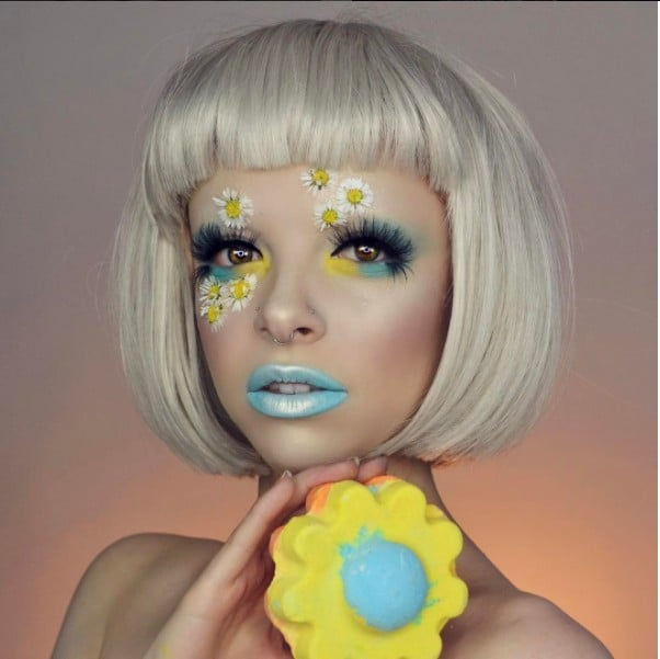 Kimberley Margarita Lush Bath Bombs Makeup Tutorial
