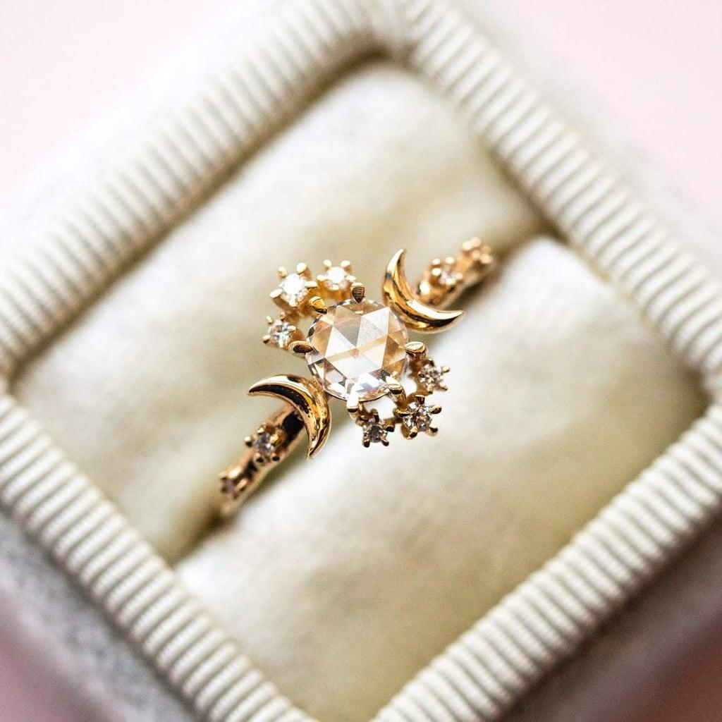 Rosecut Diamond Wandering Star Ring