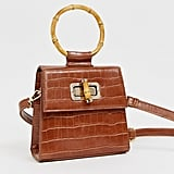 ASOS Liars & Lovers Cognac Mock Croc Mini Bag