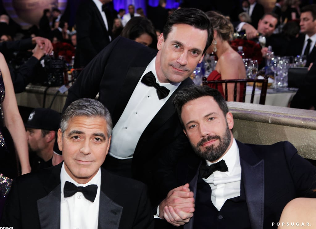 Jon Hamm, George Clooney and Ben Affleck all posed together at the Golden Globe Awards.