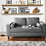 Modern Sofa Loveseat With Tufted Linen Fabric