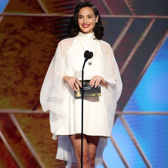 Gal Gadot's White Givenchy Minidress at the Golden Globes