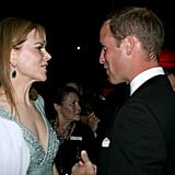 Prince William with Nicole Kidman at BAFTA Brits to Watch dinner.