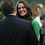 Kate Middleton in green DVF in LA.