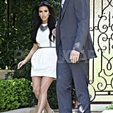 Kim Kardashian and Kris Humphries made their way to a taping of Jay Leno in LA.