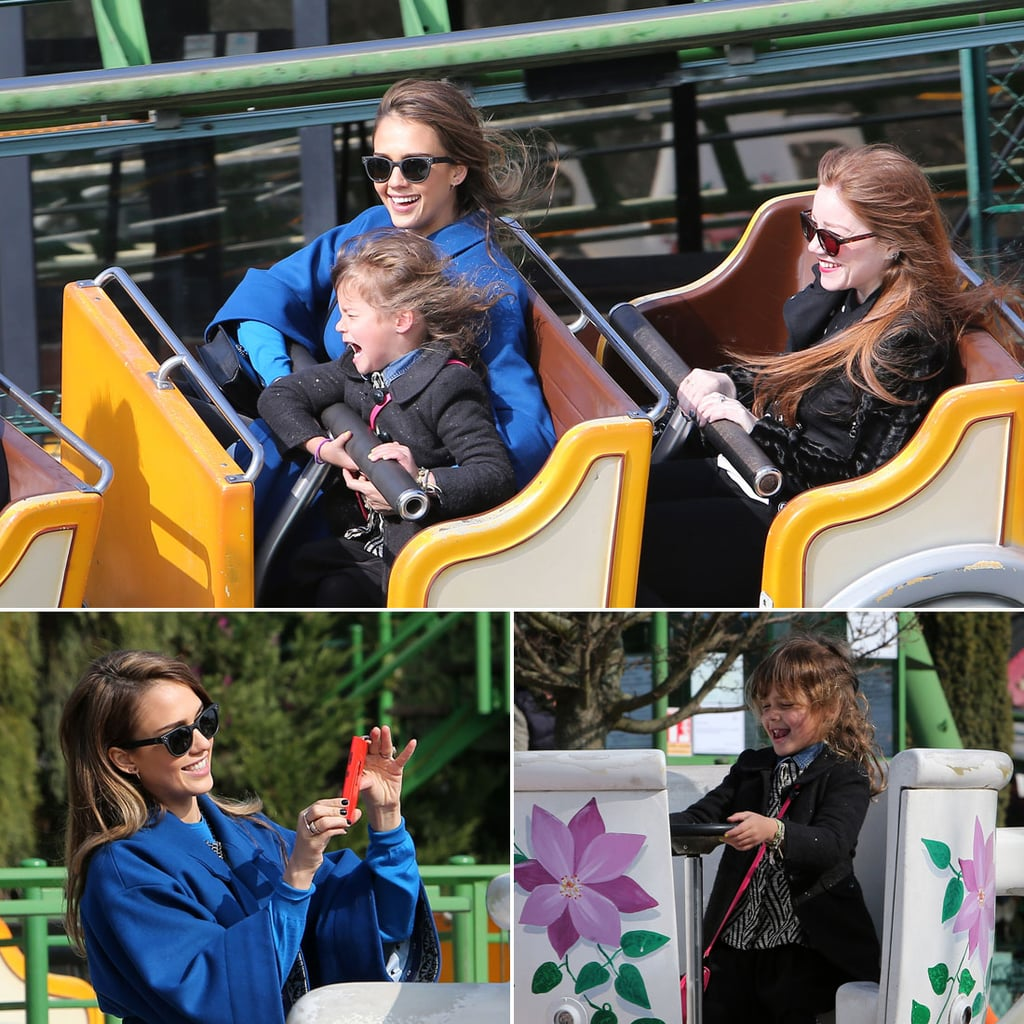 Jessica Alba Breaks From Fashion For a Fun Ride With Honor