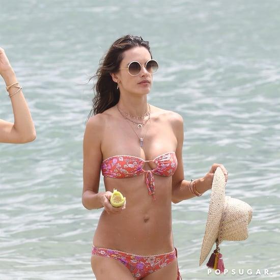 Alessandra Ambrosio Floral Bandeau Bikini