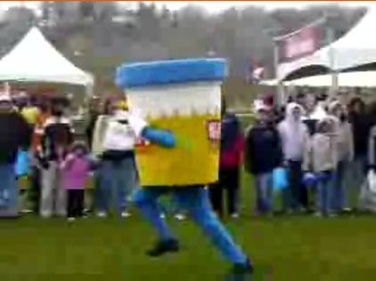 Petey P. Cup Mascot in a Mascot Race