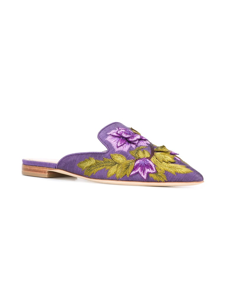 Alberta Ferretti's Floral Embroidered Mules ($925) have become quite popular among the fashion crowd.