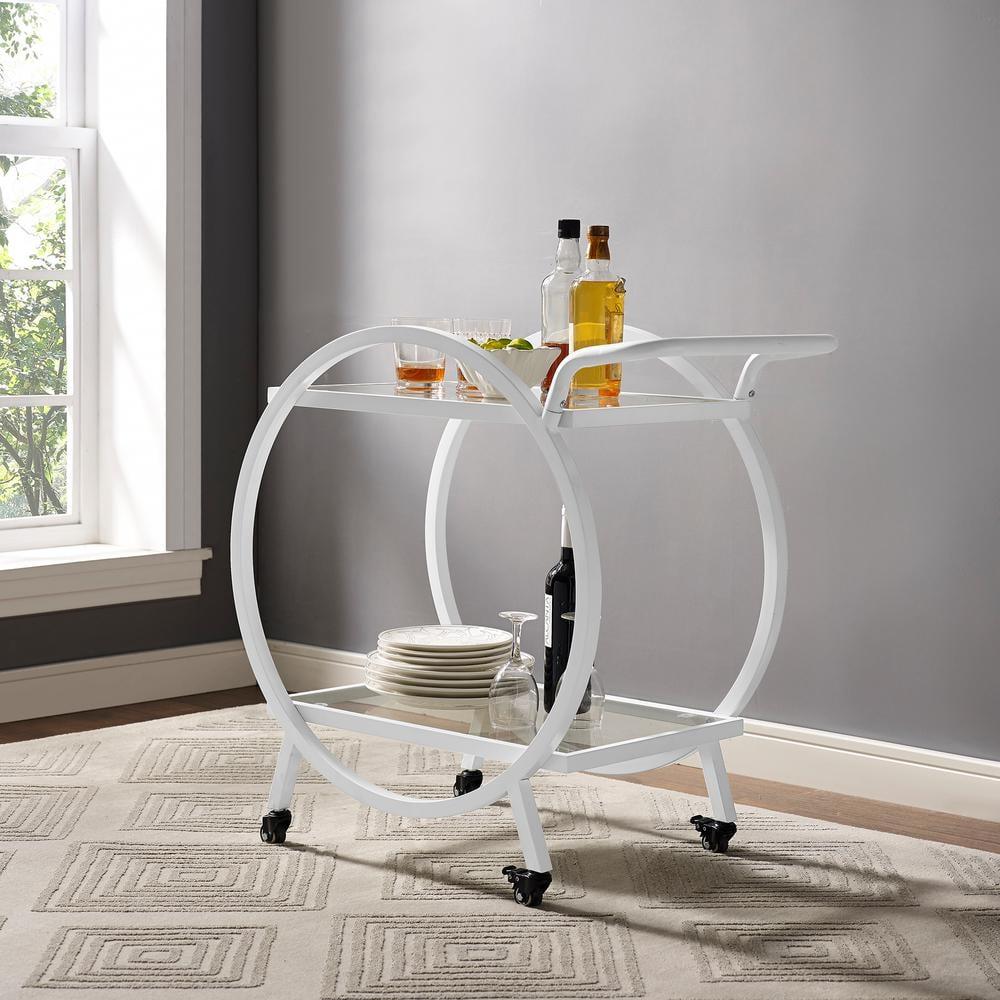 Walker Edison Furniture Company Round Frame Bar Cart