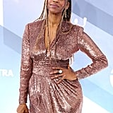 Merrin Dungey's Hair at the 2020 SAG Awards