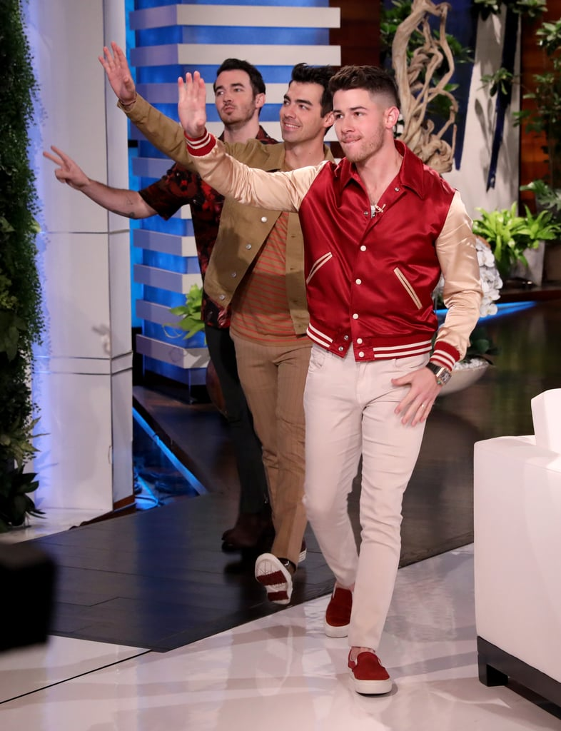 Pictures of the Jonas Brothers on The Ellen DeGeneres Show