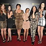 Kim Kardashian, Khloe Kardashian, Kourtney Kardashian, Kris Jenner, Kendall Jenner, and Kylie Jenner celebrate the Kardashian Kollection.