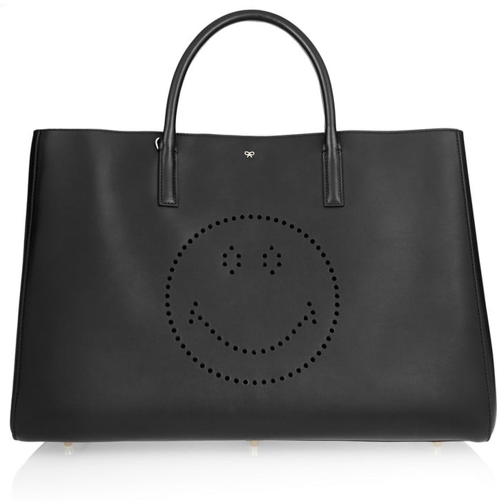 Anya Hindmarch Ebury Maxi Smiley Perforated Leather Tote ($1,550)
