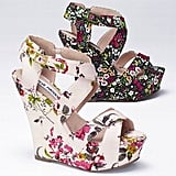 Two versions of the floral-print wedge we love — pick your poison.  Steve Madden Floral Wedge Sandal ($110)