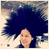 Celebrity manicurist Jin Soon Choi tried on some serious headwear. Source: Instagram user jinsoonchoi