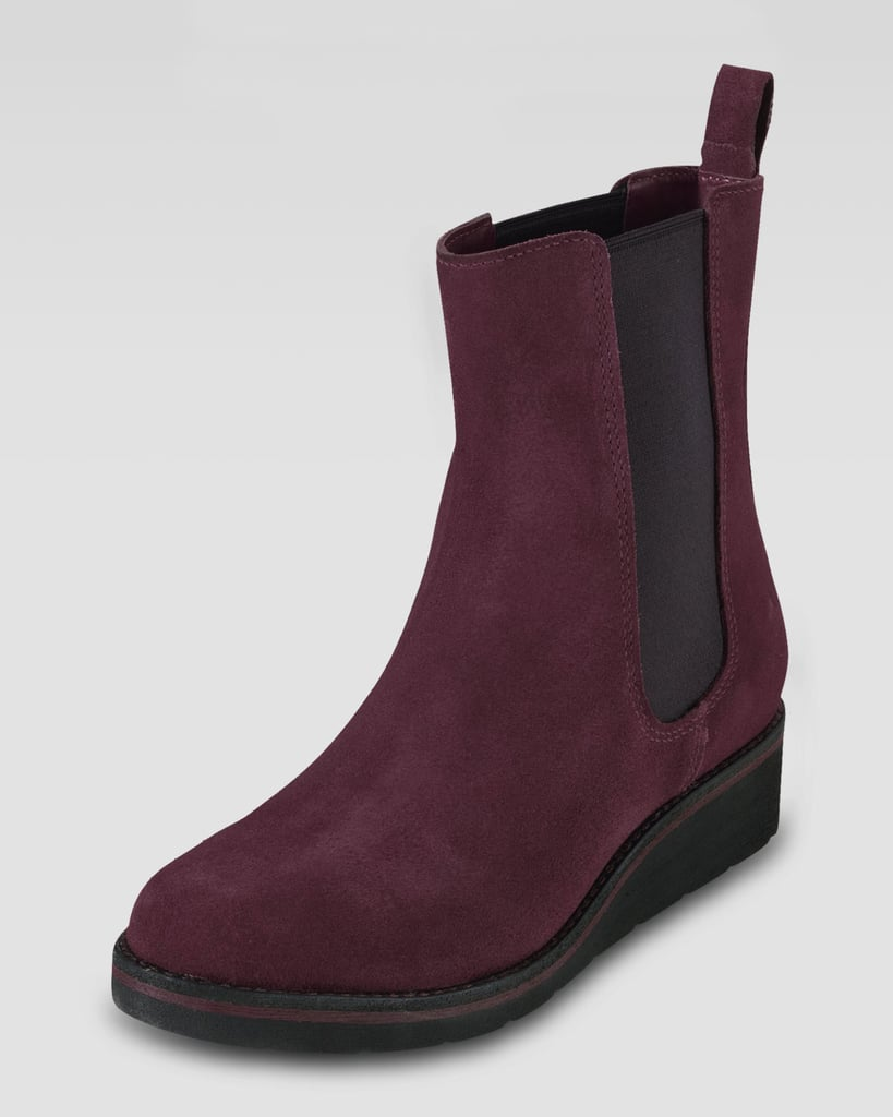 For the girl who lives in her Chelsea boots, this Cole Haan suede boot ($268) is for you. In the perfect shade of oxblood red and made with waterproofed suede, you can continue to look the cool-girl part without sacrificing your boots at the altar of the rain gods.
