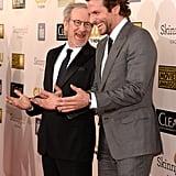 Steven Spielberg and Bradley Cooper