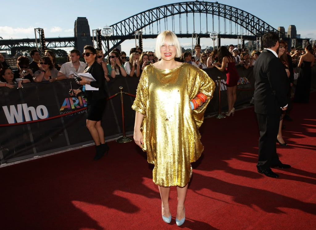Sia's golden moment. Shine on sista!
