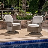 Liam Wicker Swivel Club Chairs