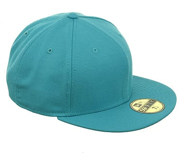 We're obsessed with the bold teal hue of this cool cap. New Era 5950 Blank Fitted Cap ($28)
