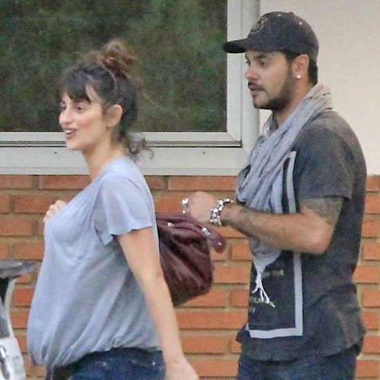 Pregnant Penelope Cruz Visits Monica Cruz at Hospital Photos