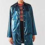 Urban Outfitters Jamie Metallic Patent Rain Coat