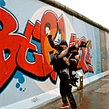 Jay Z and Beyoncé got playful during her tour stop in Berlin, Germany, in May 2013. Source: Tumblr user Beyoncé